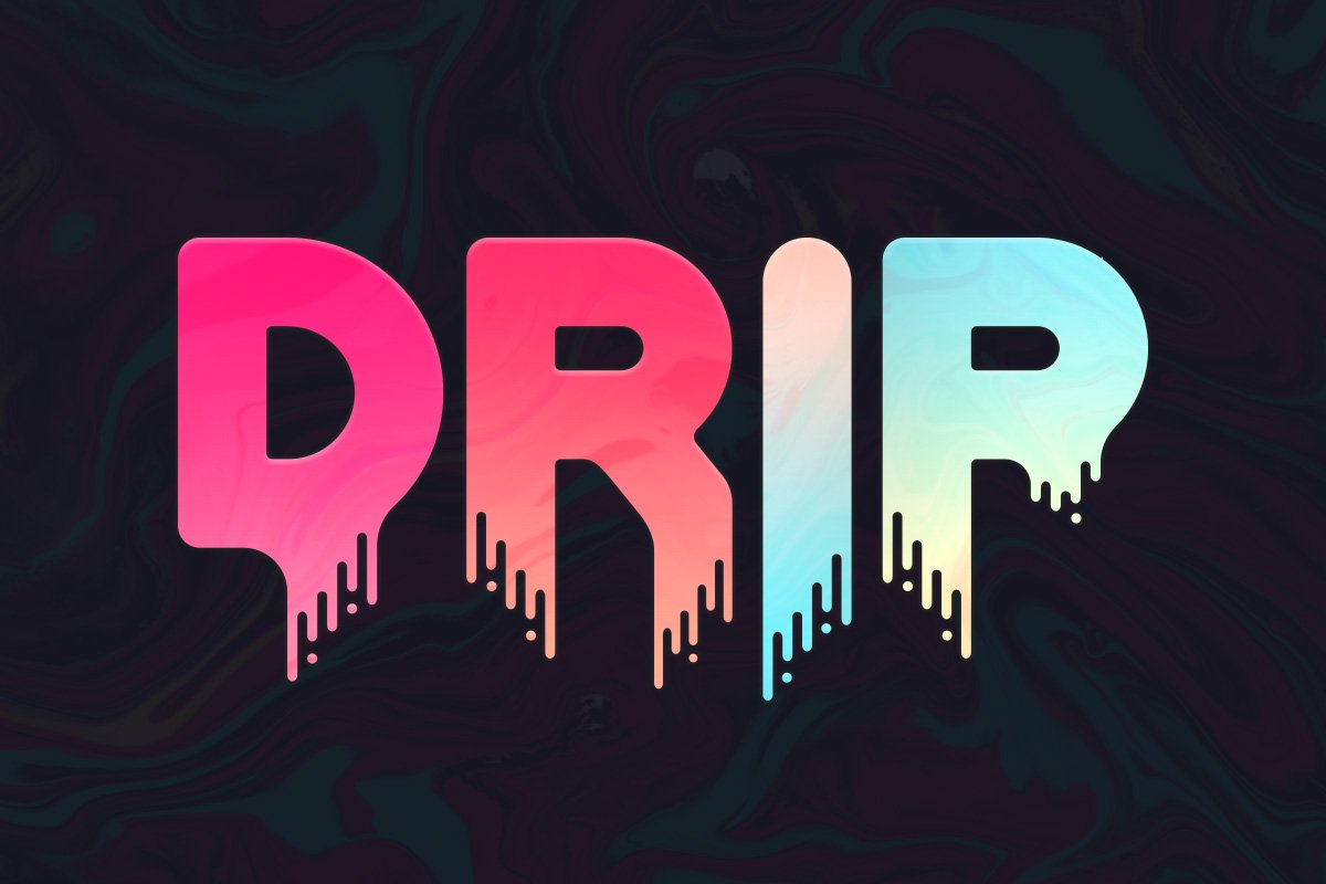 Trendy Dripping Music Fonts