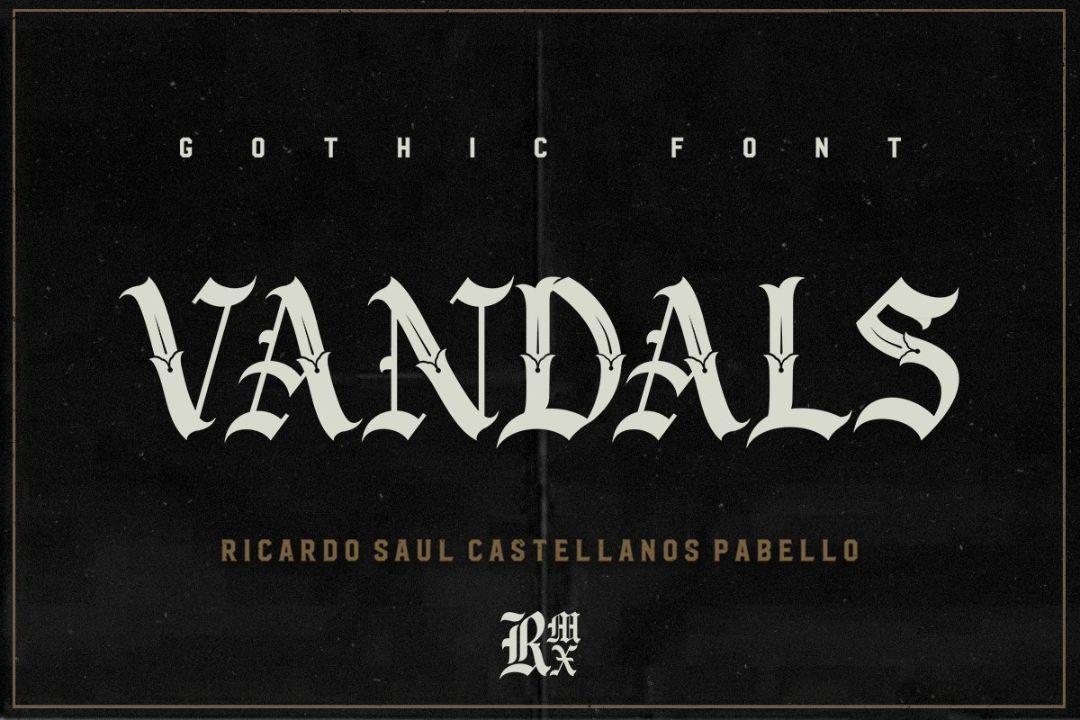 Vandals Gothic Fonts