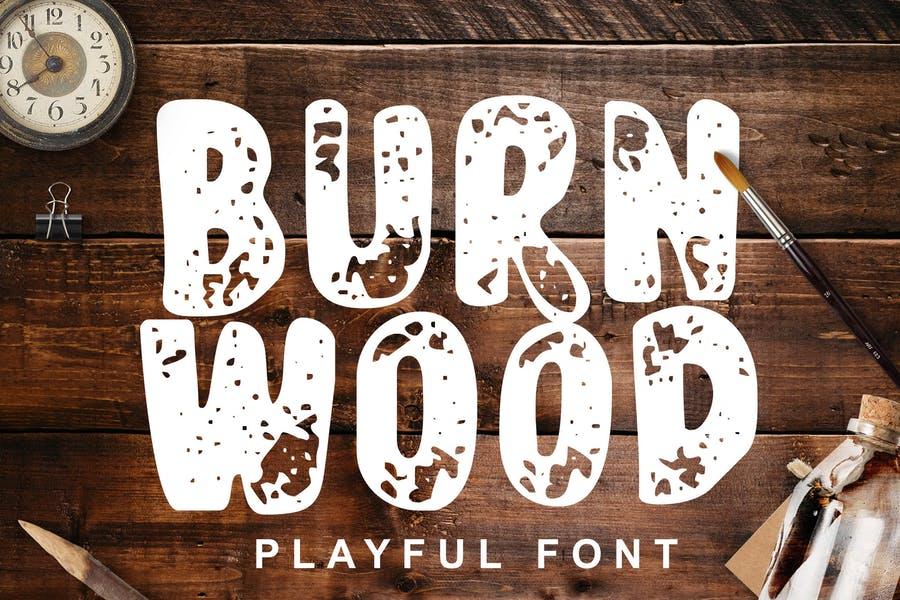 Best Burnt Wood Font