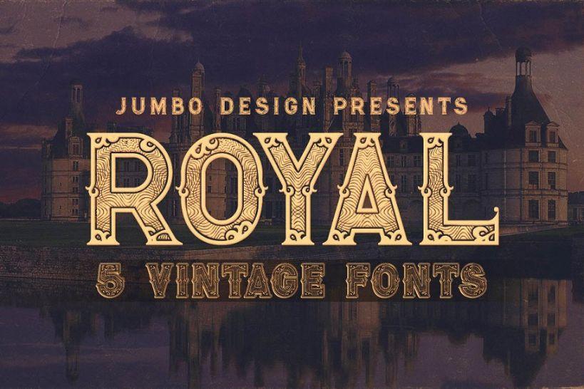 Vintage Decorative Royal Fonts