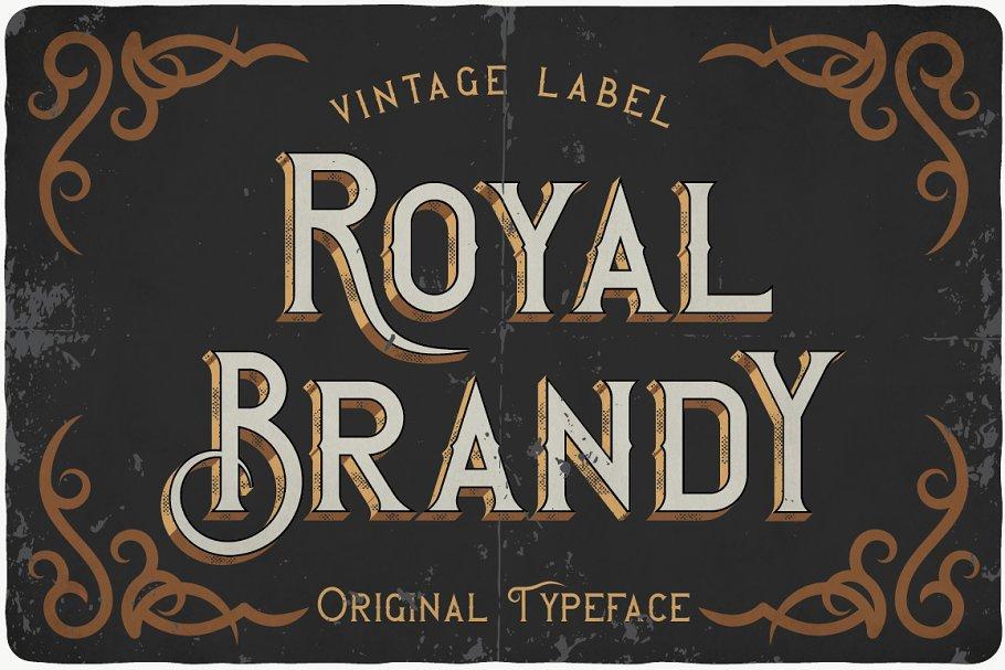 Vintage Font for Whisky Branding