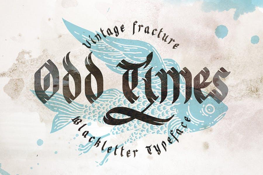Vintage Fractured Gothic Fonts