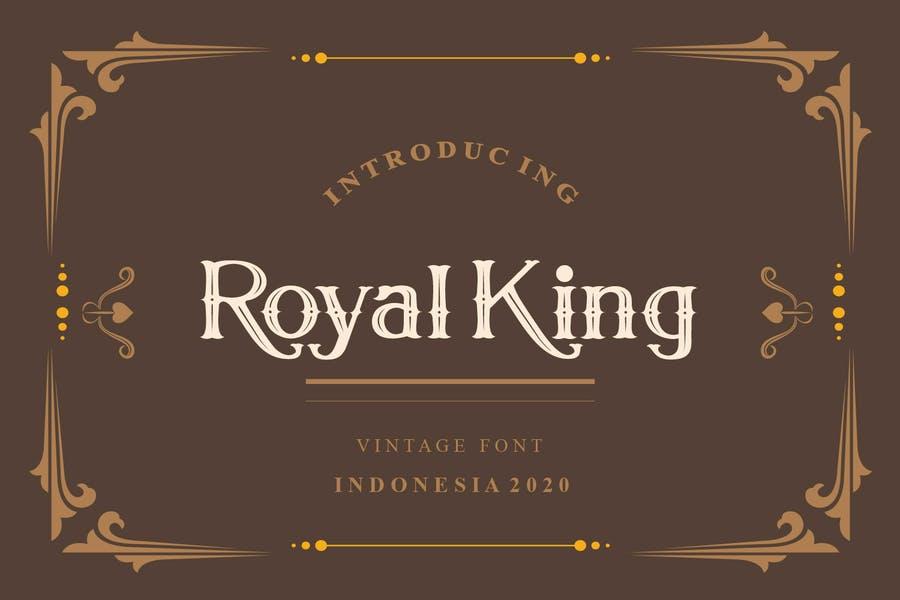 Vintage Royal King Fonts Download