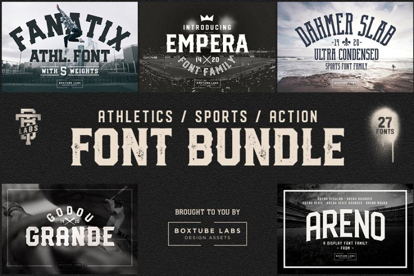 Vintage Sports Font Bundle
