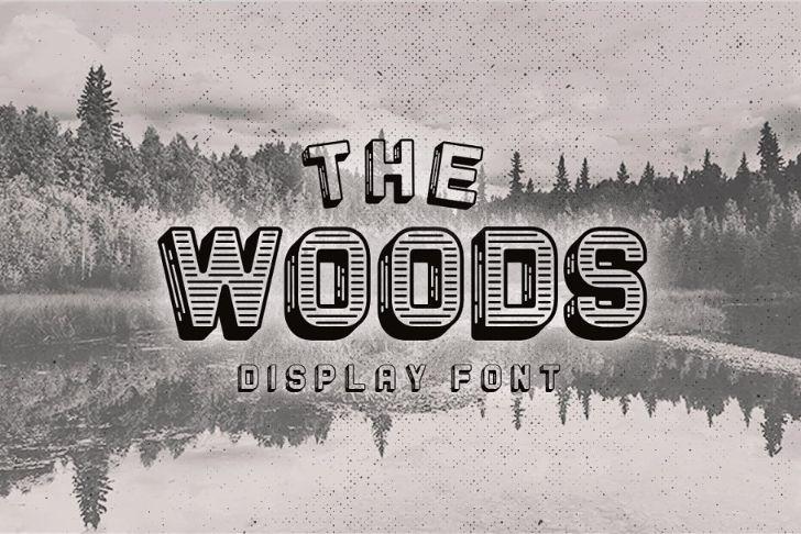 Vintage Woods Display Font