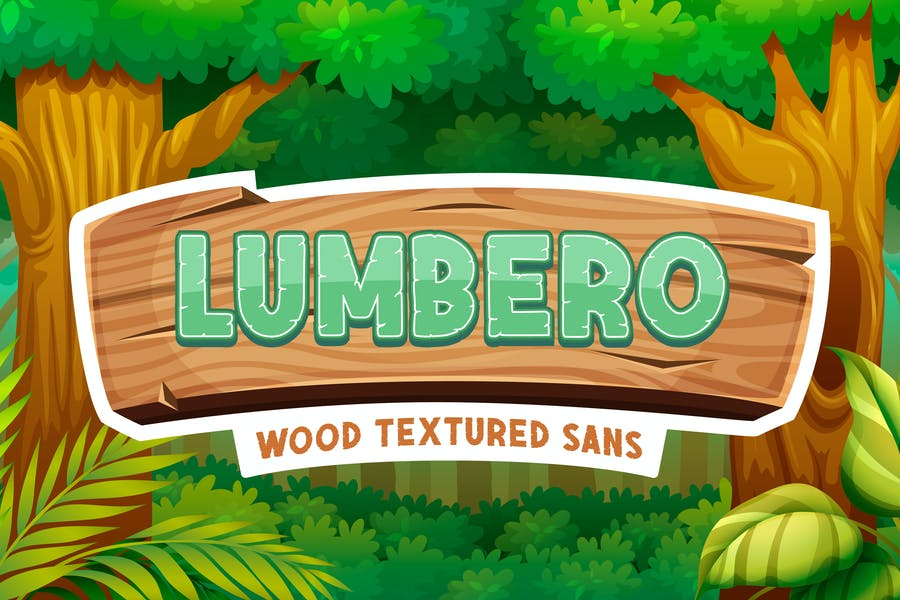 Wooden Textured Fonts