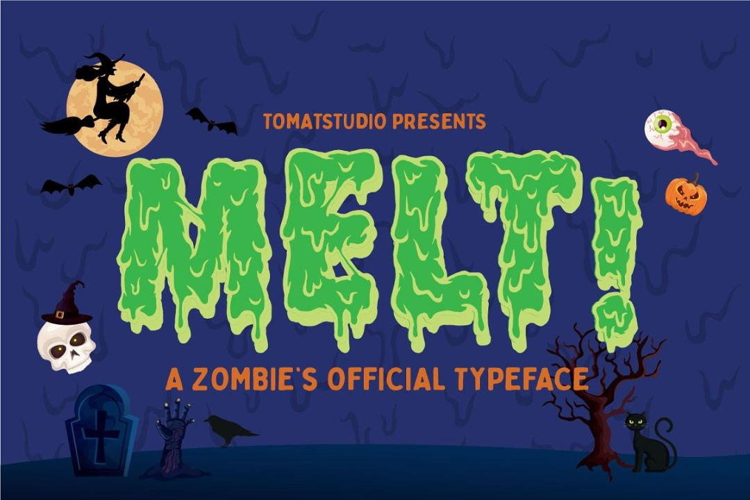 Zombie Dripping Display Font