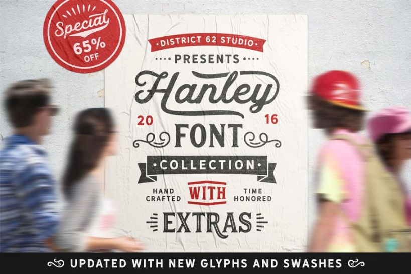 25 Hipster Font Collection