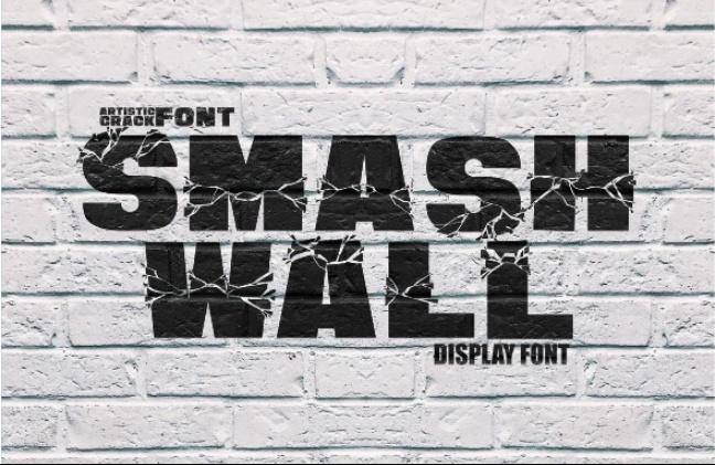 Best Brocken Wall Font