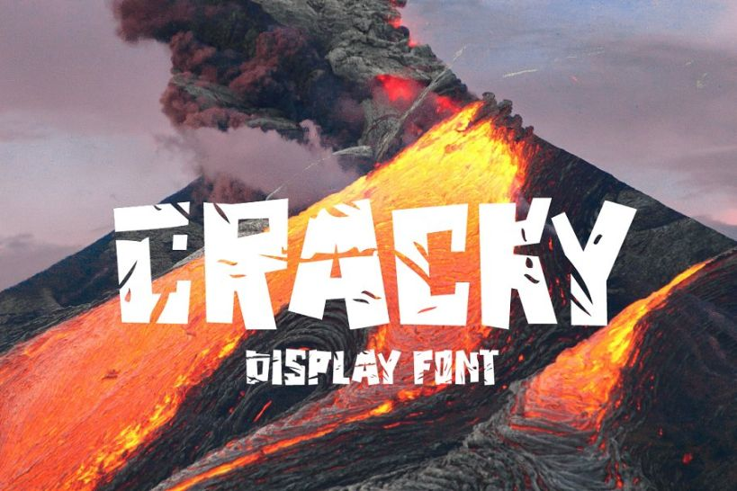 Best Cracked Display Font