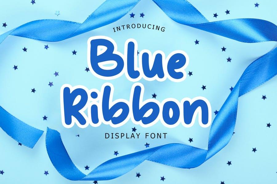 Blue Ribbon Display Font
