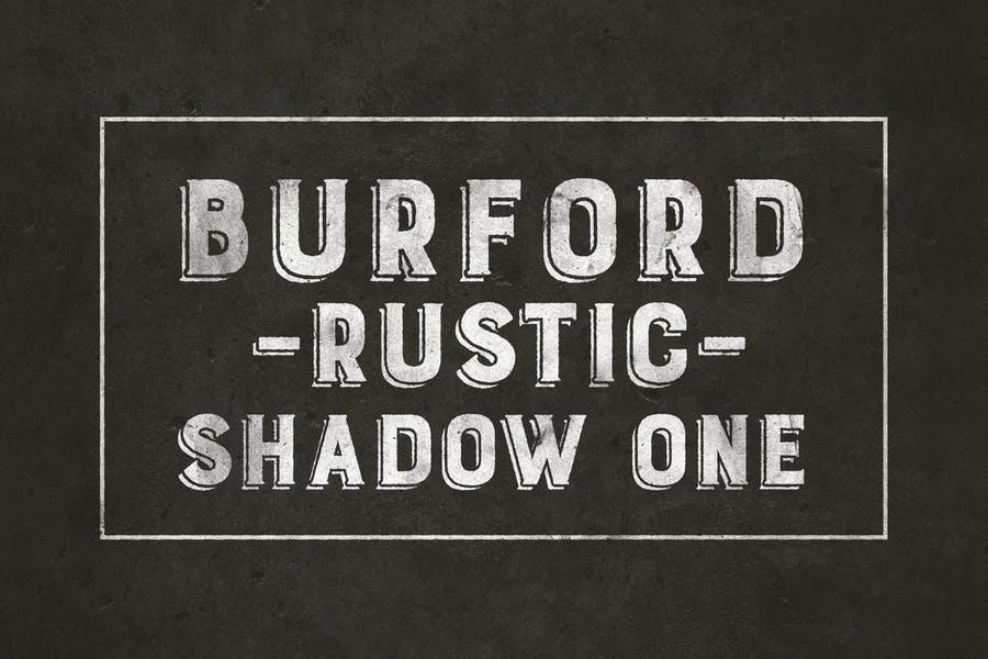 Burdford Rustic Shadow Fonts