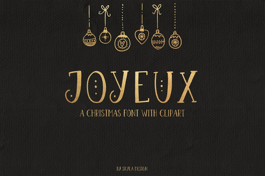 Christmas Font with Clipart