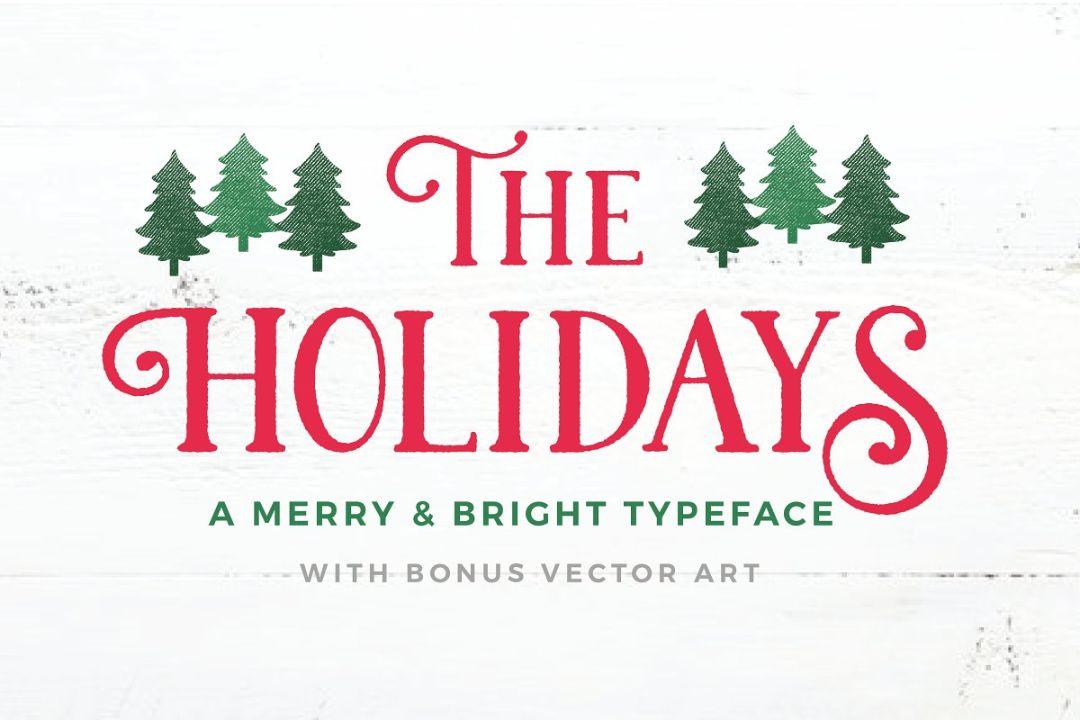 Christmas Holiday Fonts