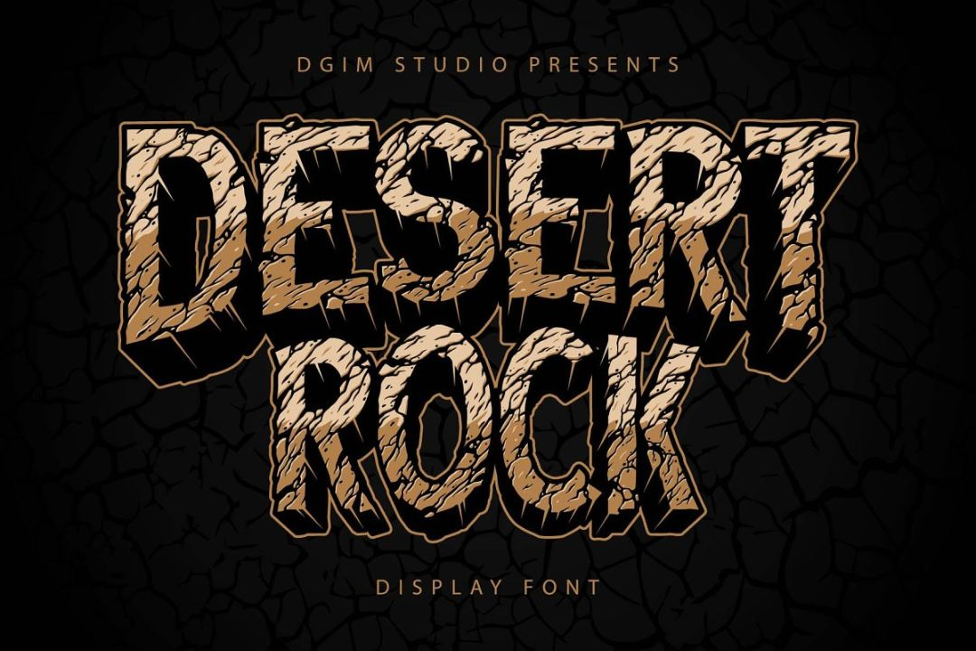 Cracked Rock Style Fonts