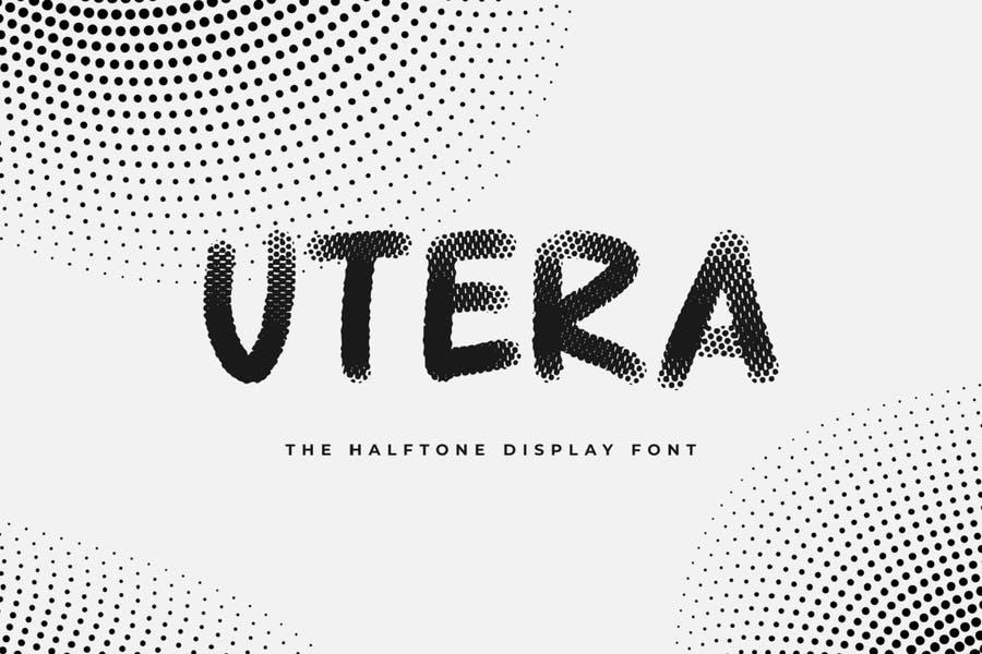 Creative Halftone Display Font