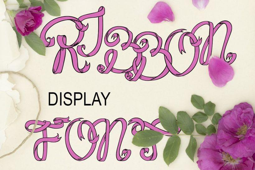 Elegant Ribbon Style Display Font