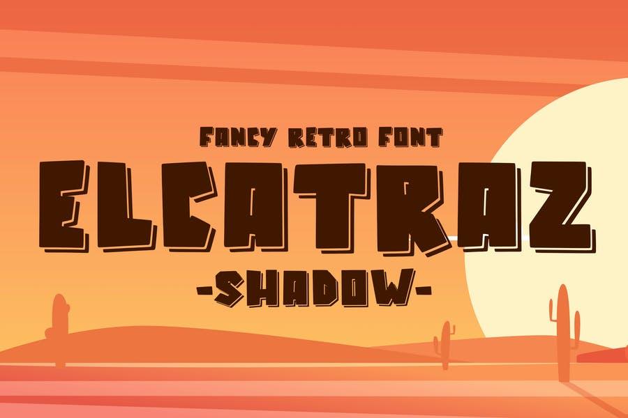 Fancy Alcatraz Shadow Fonts