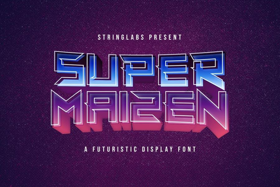 Futuristic Display Font