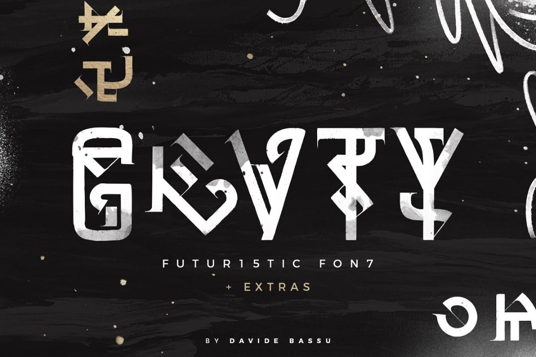 Geometric Futuristic Fonts