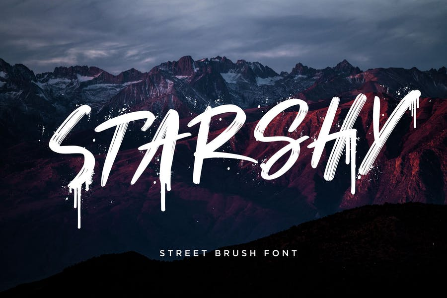 Graffiti Style Brush Fonts