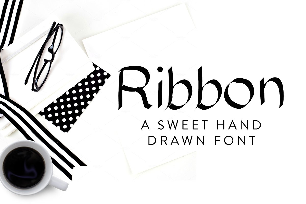 Hnad Drawn Ribbon Fonts