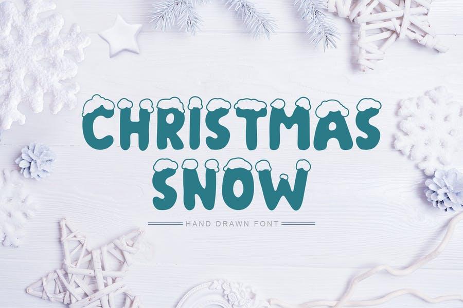 Hand Drawn Snow Font