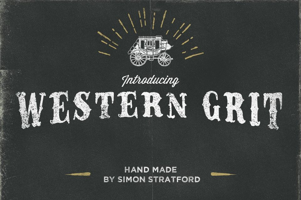 Hand Made Western Grit Fonts