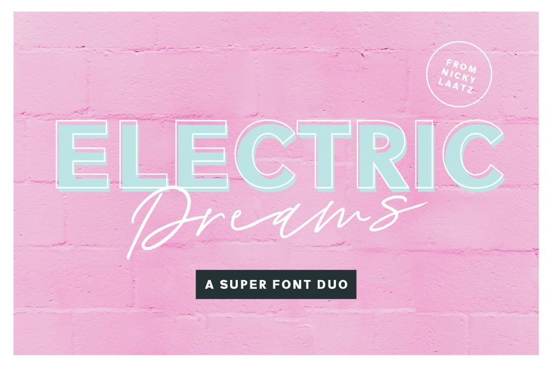 Handwritten Electric Fonts Duo