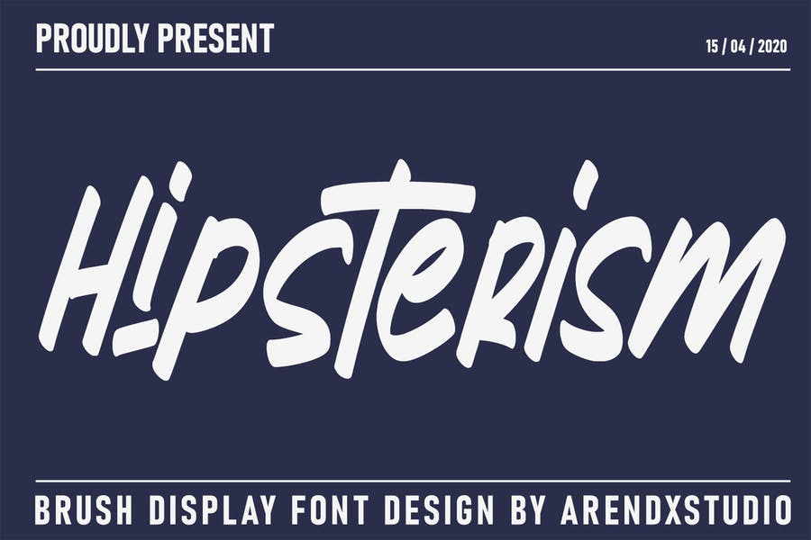 Hipster Brush Display Font