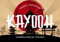Kayooh-Japanese-Display-Font
