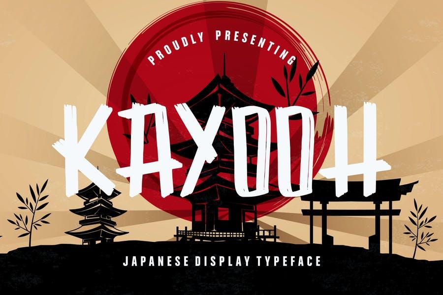 Kayooh Japanese Display Font