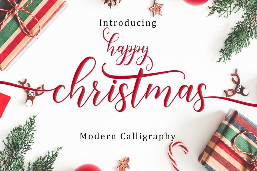 Modern Christmas Calligraphy Fonts