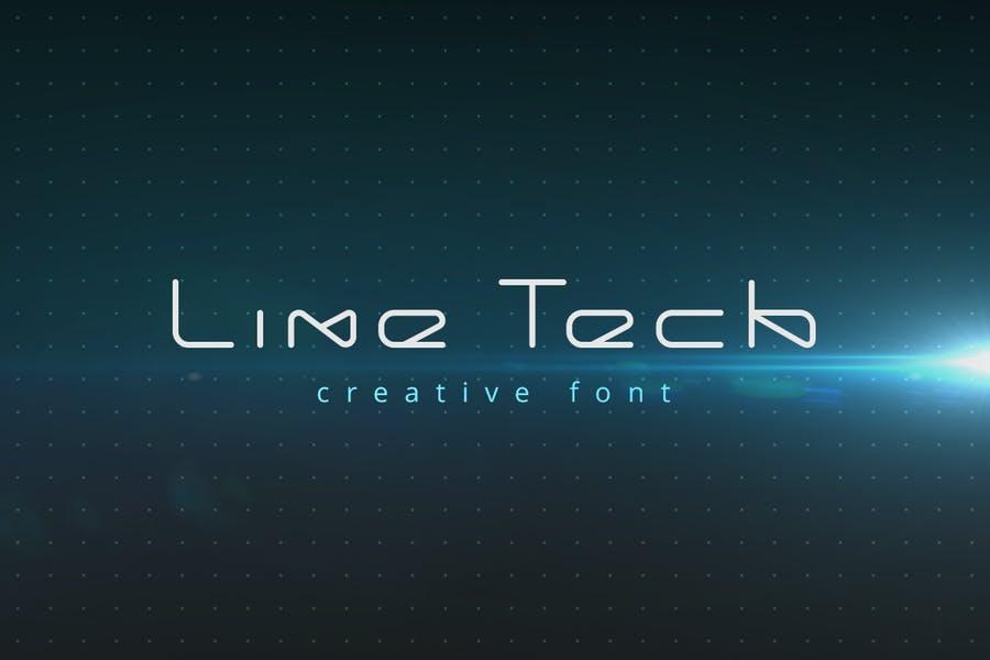 Monoline Technology Font
