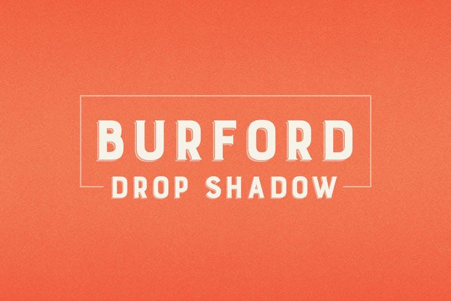 Multilingual Drop Shadow Font