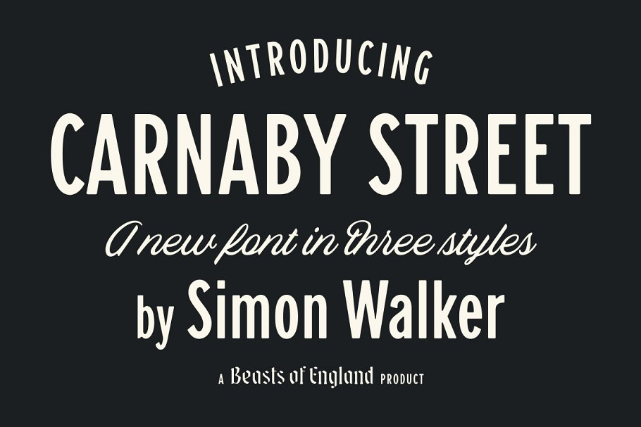 New Street Fonts with Ligatures