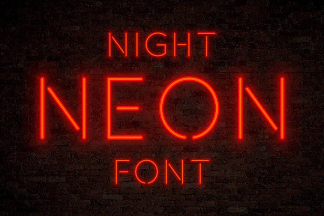 Night Neon Display Font