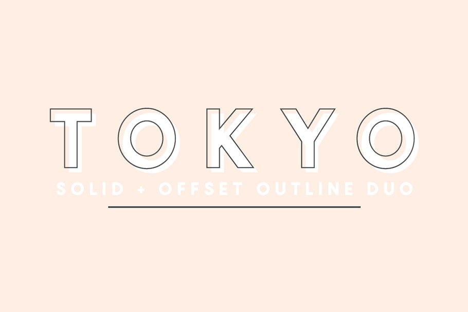Outline Tokyo Fonts