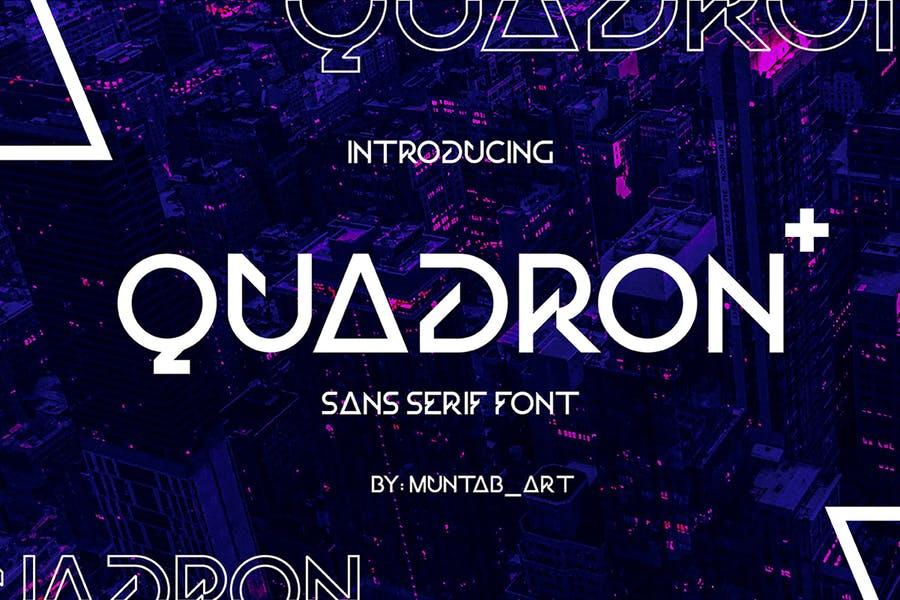 Quadron Futuristic Font
