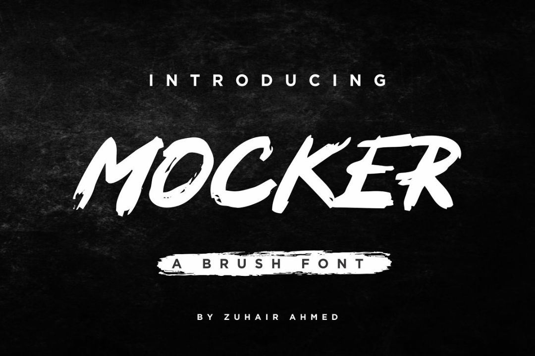 Simple Cracked Brush Font