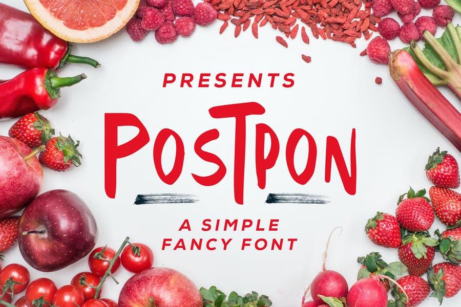 Simple Fancy Font for Logotype