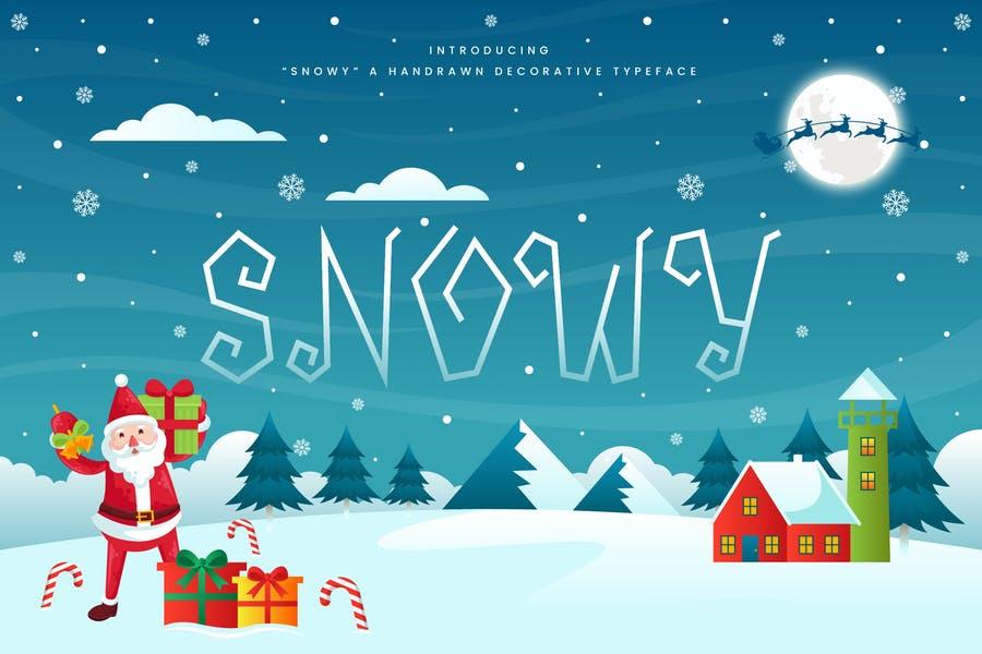 Snowy Decorative Christmas Fonts