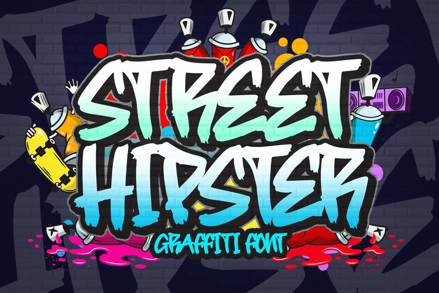 Street Hipster Graffiti Fonts