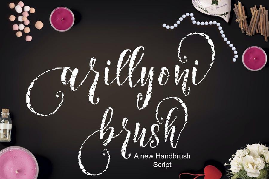 Stylish Handbrush Cracked Font