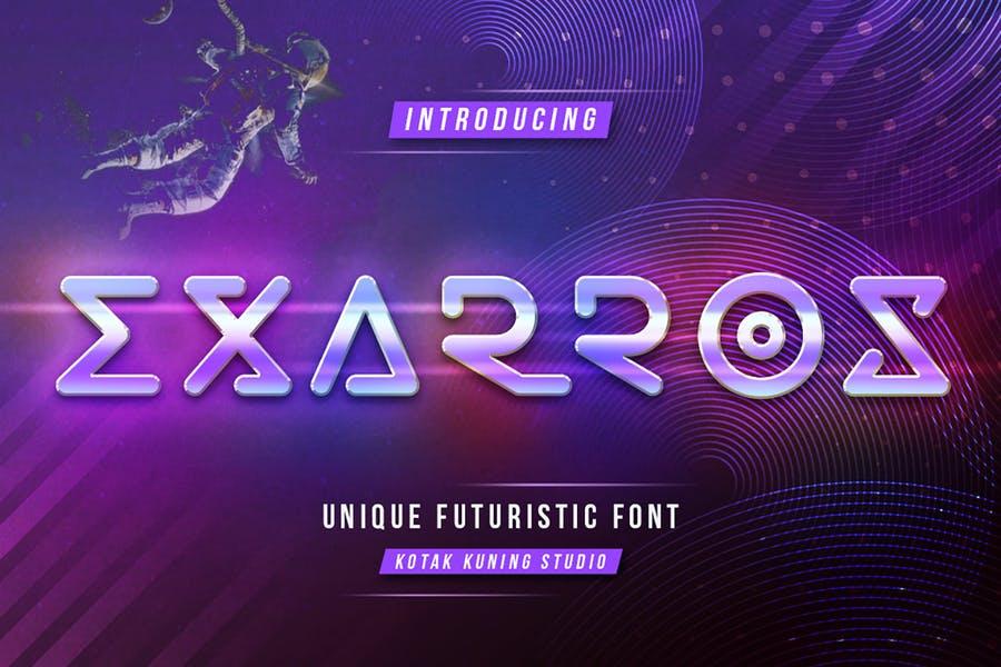 Unique Futuristic Techno Font