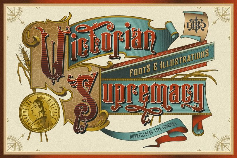 Victorian Style Ribbon Font