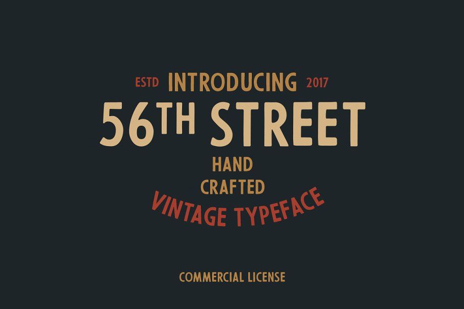 Vintage Hand Crafted Street Font