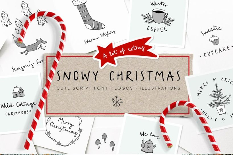 Vintage Snowy Christmas Fonts