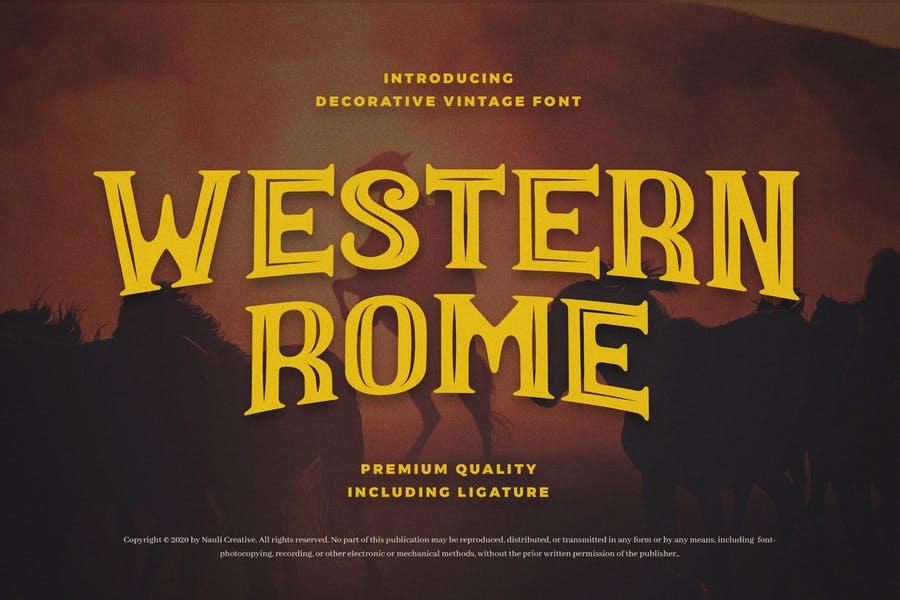 Vintage Western Rome Font