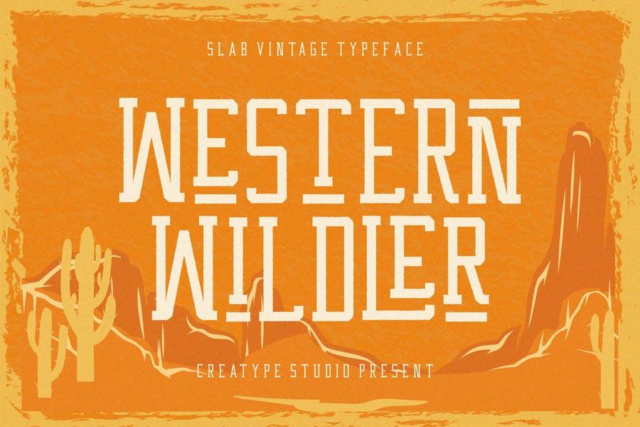 Western Slab Style Font